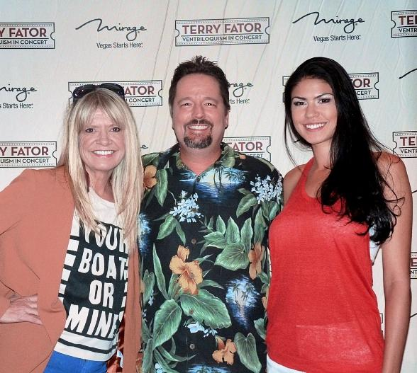 Kathy Coleman from Land of the Lost Attends Terry Fator's Show at The Mirage
