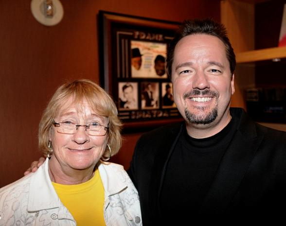 Kathy Joosten backstage at Terry Fator & His Cast of Thousands
