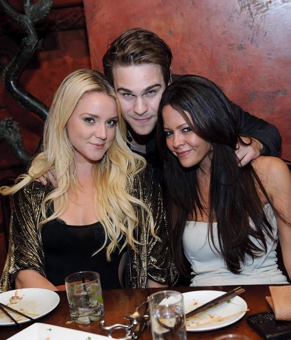 Katie Welch, Grey Damon, and Allison Melnick at TAO