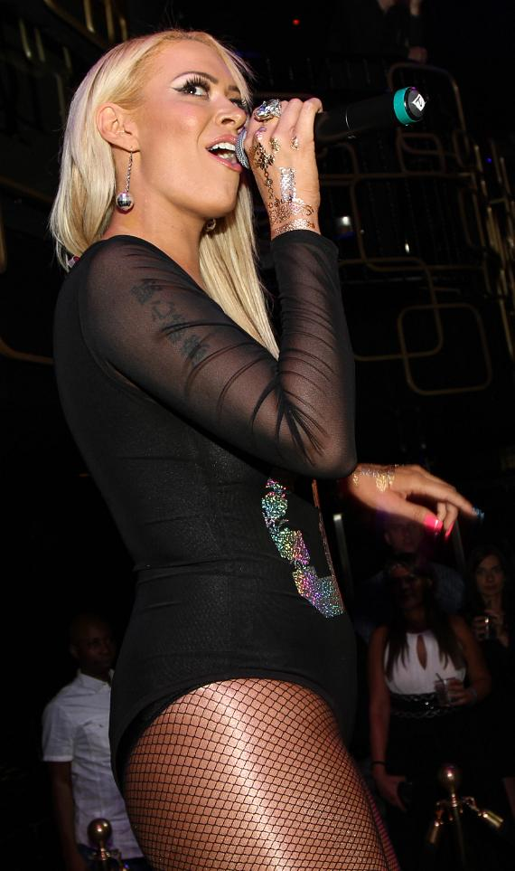 Kaya Jones performs at The Bank Nightclub