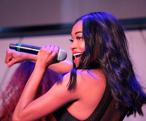 Kayla Brianna performs at Topgolf Las Vegas
