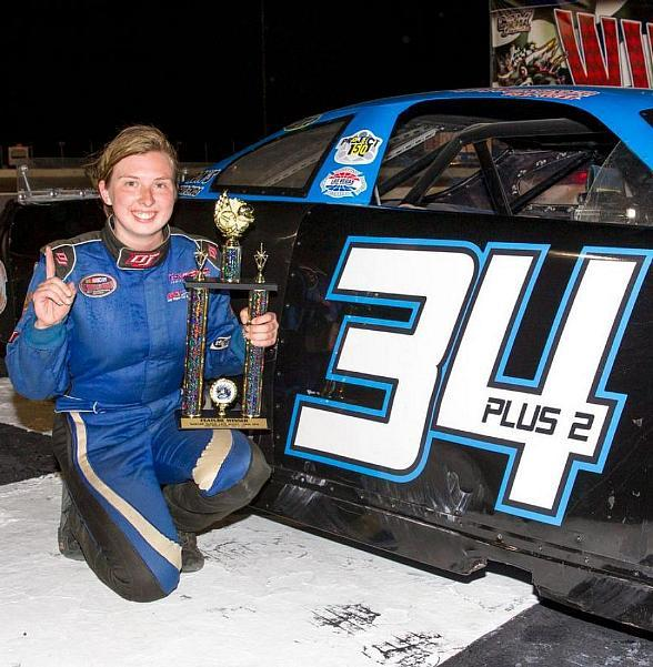 Kayli Barker Makes Bullring History with First NASCAR Super Late Models Win; Track's Winningest Female Driver Breaks Through at Chris Trickle Classic