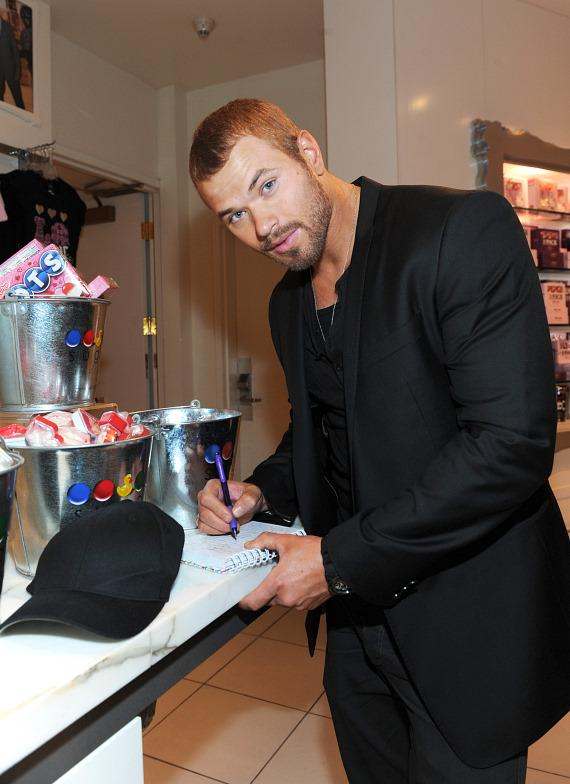 Kellan Lutz autographs merchandise at Sugar Factory's flagship retail store at Paris Las Vegas