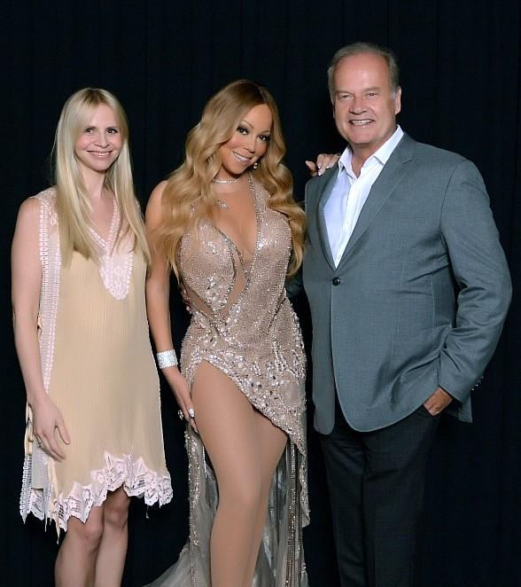 "Kelsey Grammer, Kayte Walsh, Chrissy Teigen and John Legend at ""Mariah #1 to Infinity"" at The Colosseum at Caesars Palace"