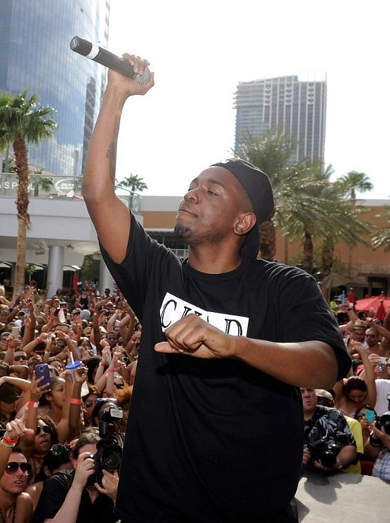 Kendrick Lamar performs at Palms Pool