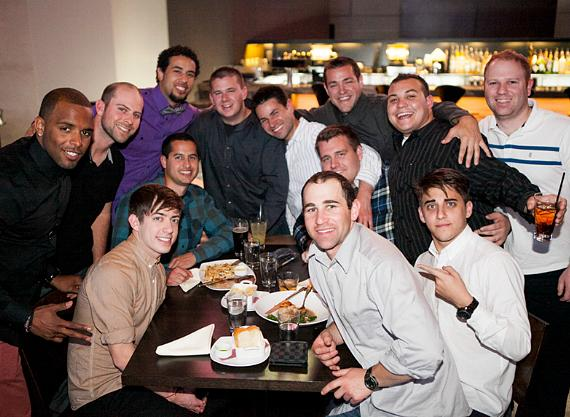 Kevin McHale and friends at Heraea in Palms Casino Resort