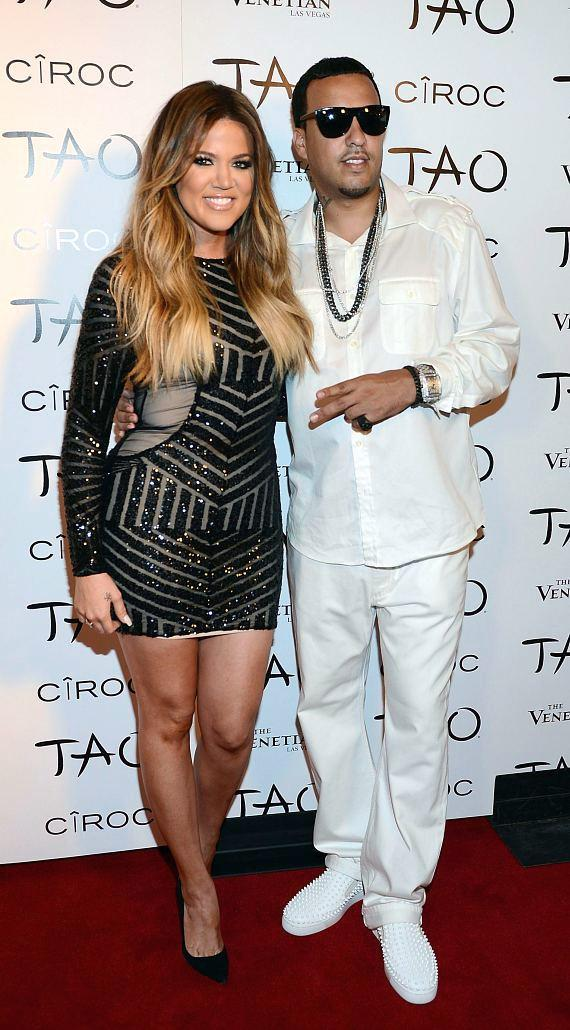 Khloe Kardashian and French Montana on TAO Red Carpet