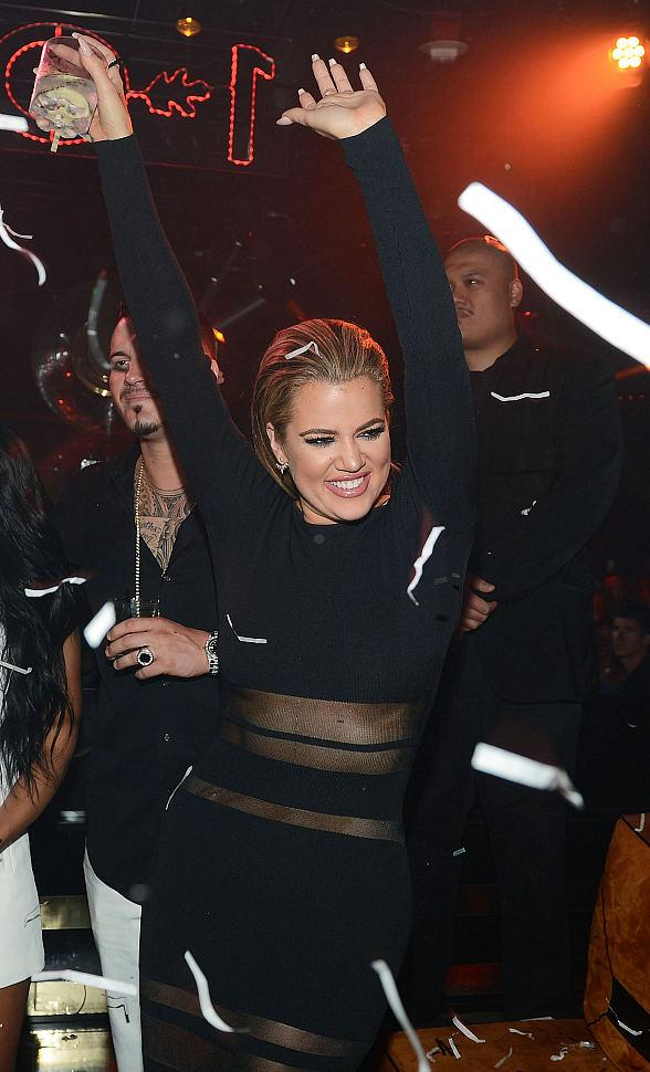 Khloe Kardashian hosts at 1 OAK Nightclub Las Vegas at The Mirage Hotel & Casino