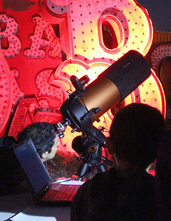 Stars and Stardust: Sidewalk Astronomy in The Neon Boneyard to Take Place Jan. 12