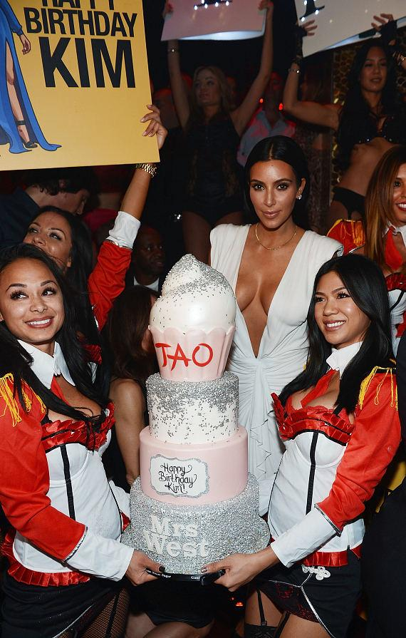 Kim Kardashian West celebrates her birthday at TAO Nightclub at the Venetian