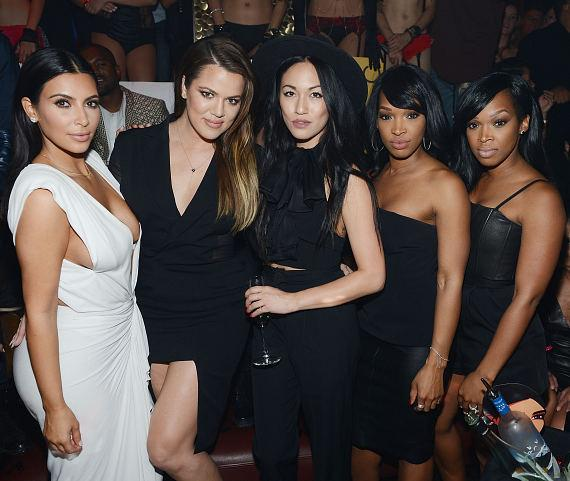 Kim Kardashian, Khloe Kardashian, Malika Haqq and Khadijah Haqq celebrate Kim's birthday at TAO Nightclub