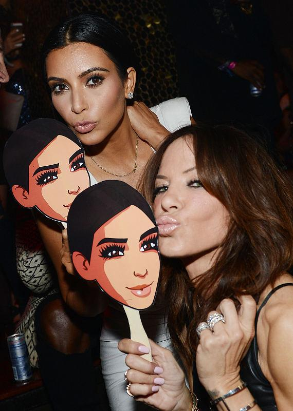 Kim Kardashian West and Robin Antin celebrate Kim's birthday at TAO Nightclub