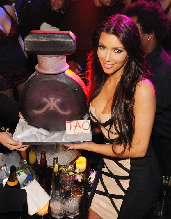 Kim Kardashian with Cake at TAO