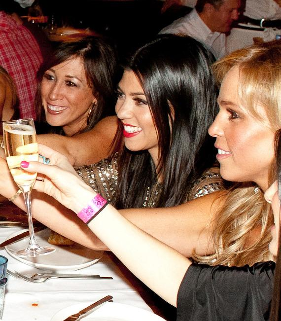 Kourtney Kardashian toasts the bachelorette at LAVO