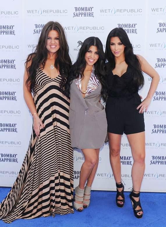 Kourtney, Kim and Khloe Kardashian at WET REPUBLIC