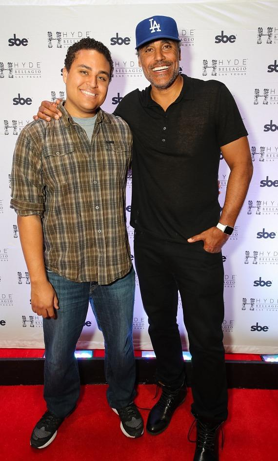 Kyle and Rick Fox at Hyde Bellagio