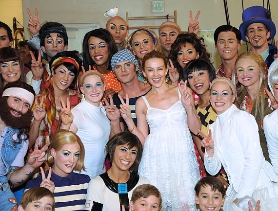 Kylie Minogue and LOVE cast