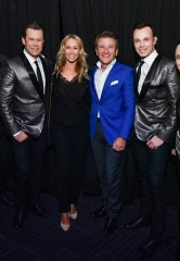 "Newlyweds Robert Herjavec (Shark Tank) and Kym Johnson (Dancing with the Stars) put on their Dancing Shoes at Human Nature's ""Jukebox"""