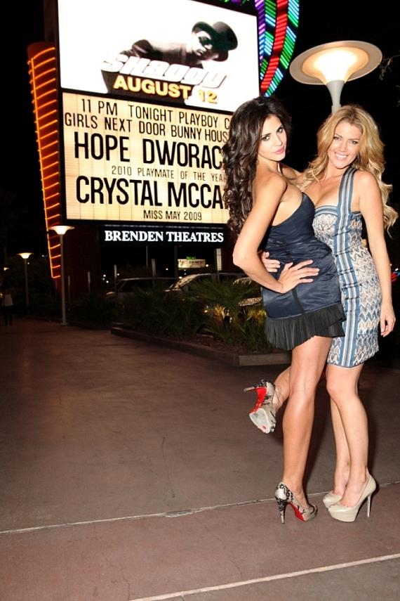 Playmate of the Year Hope Dworaczyk and Playmate Crystal McCahill