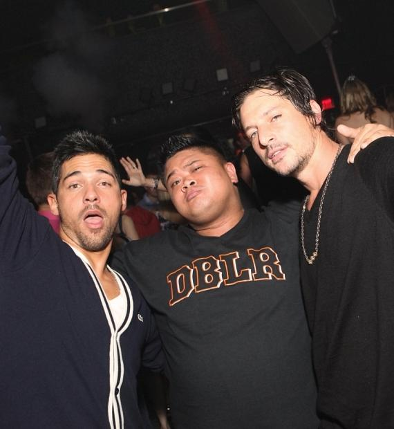 Jroc (9 Group), friend and Dirt Nasty at Moon Nightclub