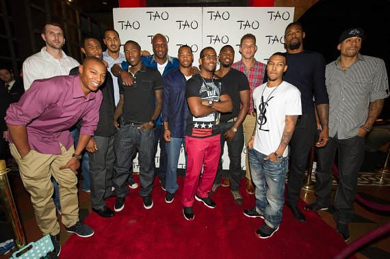 LA Clippers on TAO Red Carpet