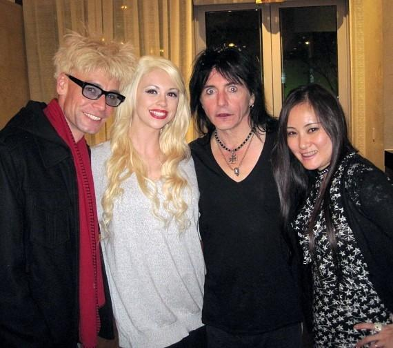 Murray and Chloe with Phil Lewis of LA Guns