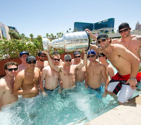 2012 NHL Stanley Cup Champion Los Angeles Kings Celebrate Win at WET REPUBLIC