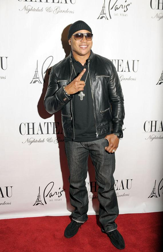LL Cool J walks the red carpet outside of Chateau Nightclub & Gardens