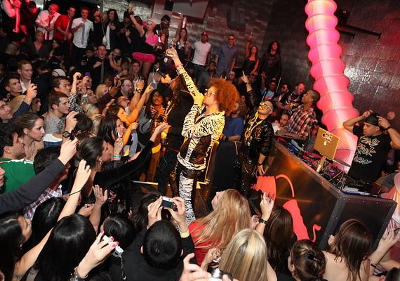 LMFAO performs at Moon Nightclub