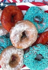 """Land of the Free, Home of the Glazed"" Doughnut Assortment at Fractured Prune in Las Vegas"