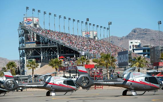 Maverick helicopters offers fans exclusive flight packages Nascar experience las vegas motor speedway