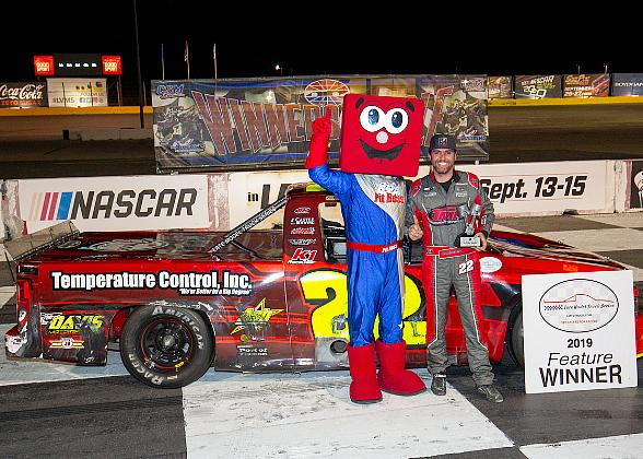 Cambensy Becomes Fourth Different Late Model Truck Series Winner of 2019 with Triumph at The Bullring on Pack the Track Night