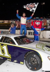 Dustin Ash Wins Spirit of '76 NASCAR Super Late Models Race on Night of Fire at Las Vegas Motor Speedway