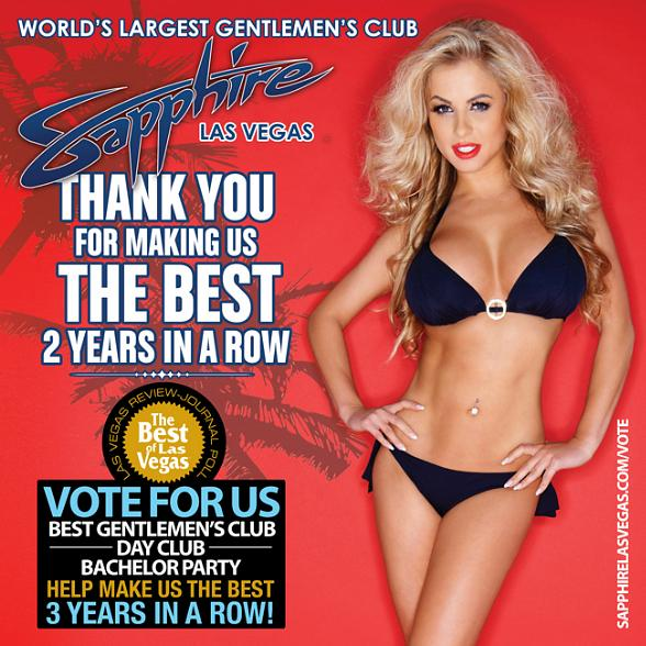 Vote for Sapphire Las Vegas as the Best Gentleman's Club in Las Vegas