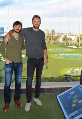Dave Haywood and Charles Kelley of Lady Antebellum at Topgolf Las Vegas