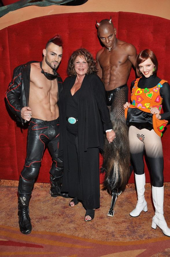 Lainie Kazan Enjoys Sexy Night of Fun at Cirque du Solei's Zumanity
