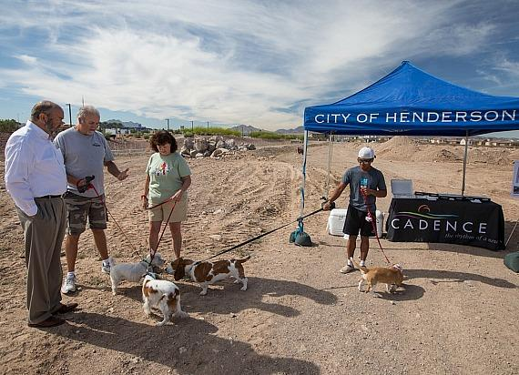 Dogs Break Ground at New Henderson/Cadence Dog Park