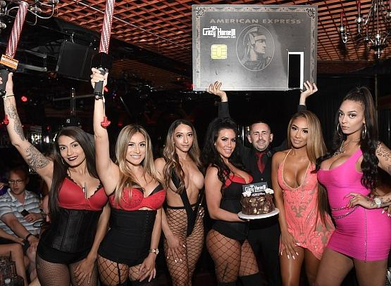 Lani Blair with Birthday Cake Presentation at Crazy Horse 3 in Las Vegas