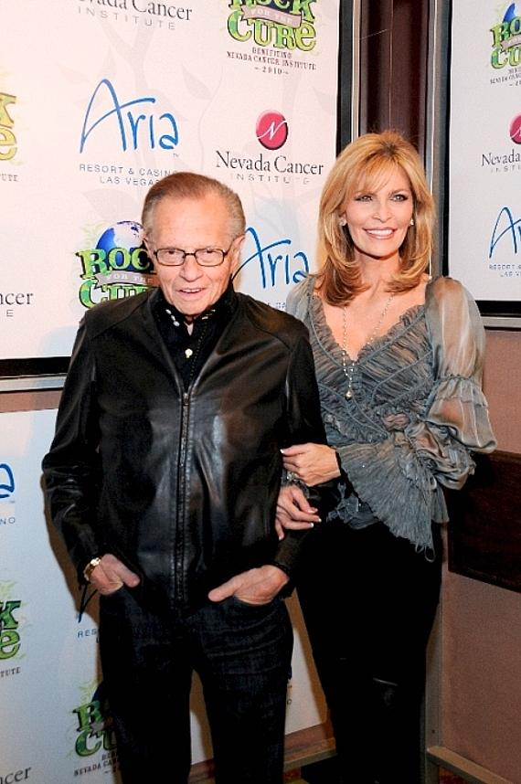 Larry King and wife Shawn King on red carpet at Nevada Cancer Institute's Rock for the Cure Las Vegas