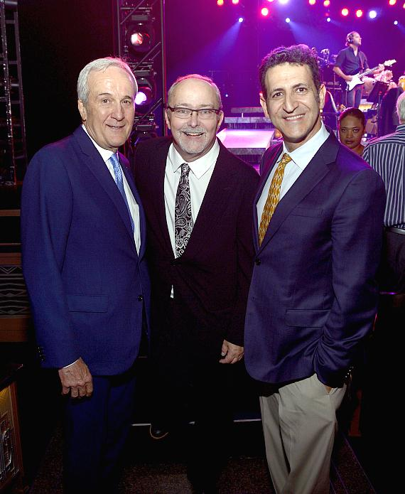 Larry Ruvo, Myron Martin, Dr. Marwan Sabbagh attend the final performance of ON YOUR FEET! at The Smith Center