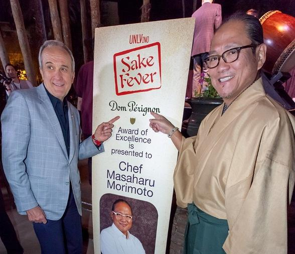 Larry Ruvo and Chef Masaharu Morimoto at UNLVino Sake Fever