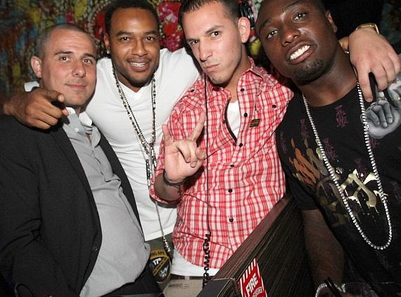 Larry Johnson, Dontrelle and friends at Vanity