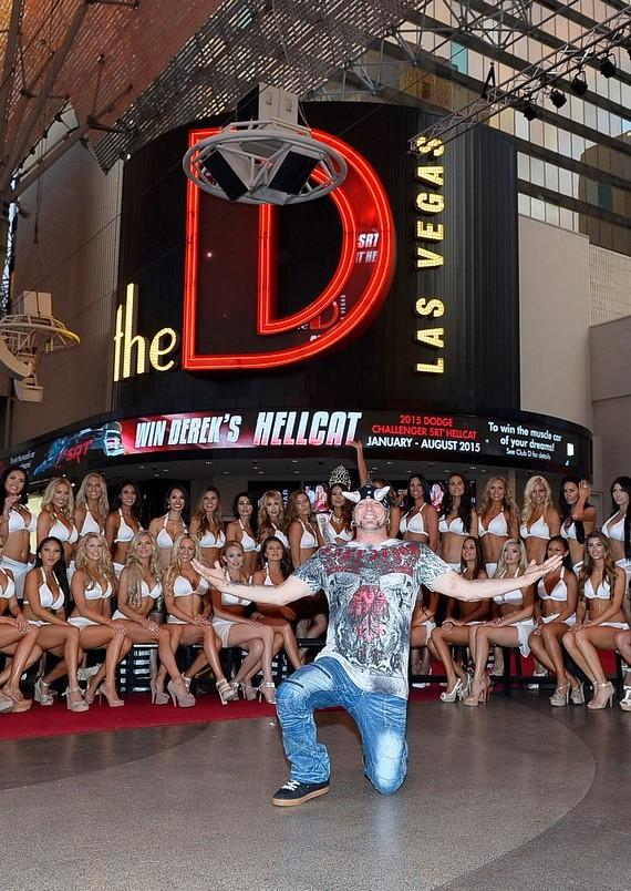 """Horny Mike from History Channel's hit show """"Counting Cars"""" with Las Vegas International Models"""
