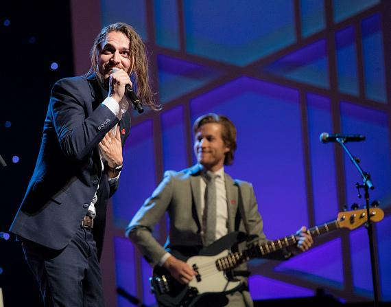 Las Vegas-bred rock band Brumby performs at second annual Heart of Education Awards, April 29, 2017