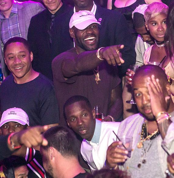 LeBron James Hosts Championship Celebration at Marquee