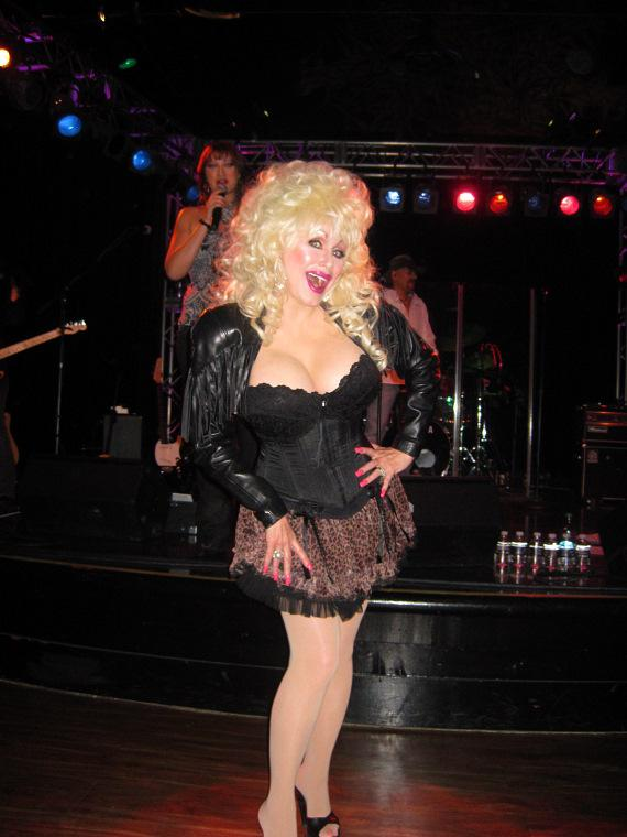 Sandy Anderson dressed up as Dolly Parton, took home the reward for Famous Cowgirl Entertainer