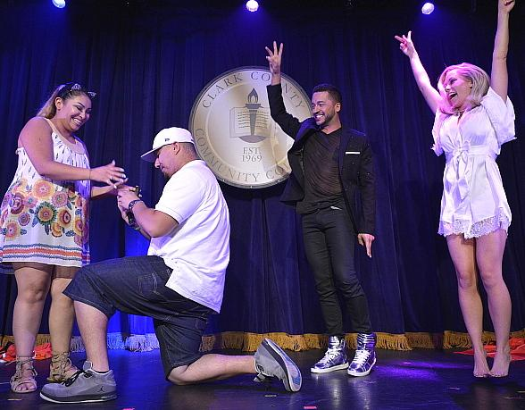 """Jai Rodriguez and Kendra Wilkinson Assist in Surprise Marriage Proposal at """"Sex Tips for Straight Women from a Gay Man"""" at Paris Las Vegas"""
