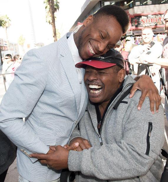 Former Heavyweight Boxing Champ Leon Spinks and grandson Leon Spinks III