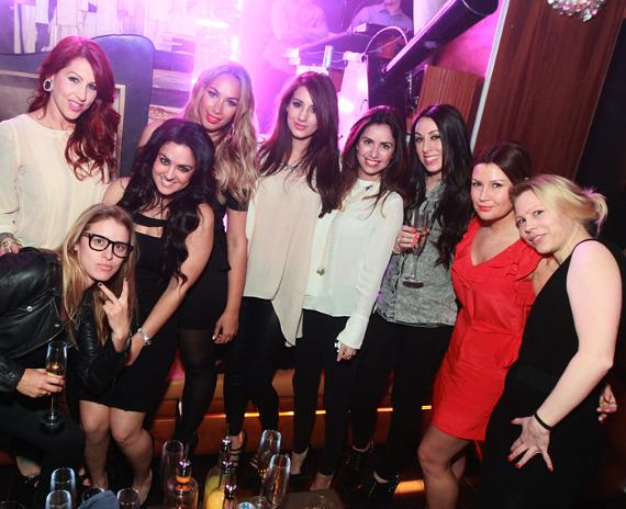 Leona Lewis and friends at Hyde Bellagio