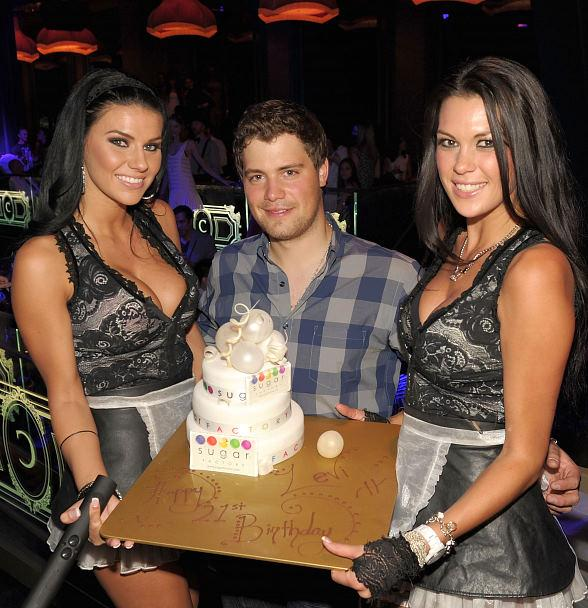 Levi Johnston celebrating his 21st birthday at Chateau Nightclub & Gardens in Paris Las Vegas